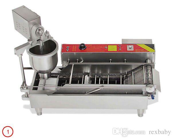 3 Kalıplar ile Makine Paslanmaz Çelik Yapımı Otomatik Elektrik Donut Yapma Makinası Popüler Donut Maker Ticari Donuts