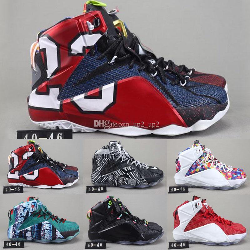 Yüksek Kaliteli Atletik XII 12 Elite Açık Ayakkabı Erkekler Siyah Beyaz Metalik Altın Çok Güney Plaj Sneaker Ayakkabı Ne