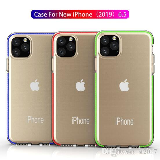 Deux tons clair TPU téléphone portable armure hybride cas anti-choc pour iPhone 11 Pro Max X XS XR Max 7 8 6 plus Samsung Note 10 S10 plus DHL
