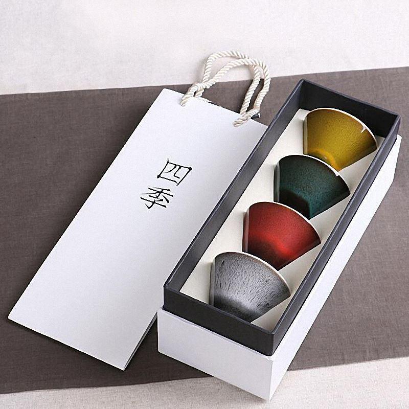 2019 Chinese Ceramic Tea Cup And Saucer Set Kung Fu Teacups Porcelain Bowl Vintage Travel Tea Cups Portable Tea Set