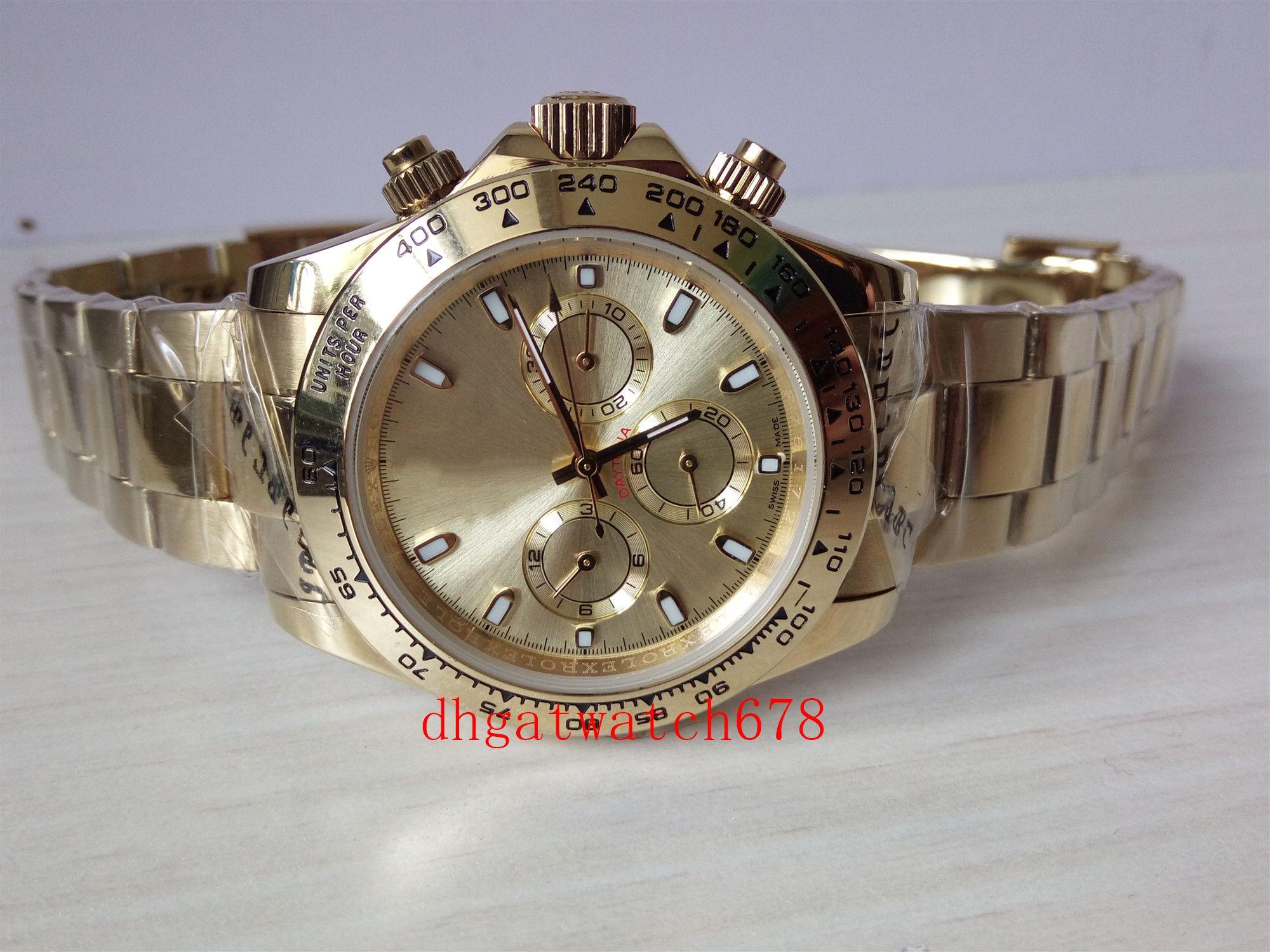 Luxuxqualitäts Mann-automatische mechanische 40mm Zifferblatt Nein Chronograph 116508, 116528 Serie Uhren, Goldgehäuse