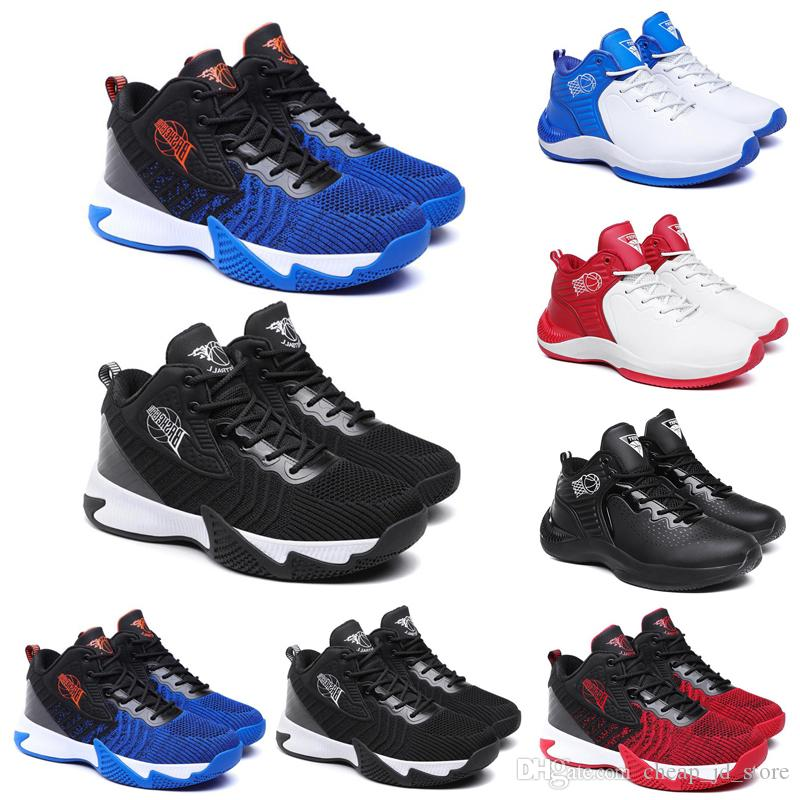 Discount Basketball Shoes for men Black White Blue Red Mens Trainers Chaussures Athletic Outdoor Breathable Sports Sneakers 40-44