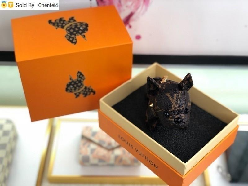 chenfei4 A0VG NA000 Puppy black ECLIPSE DRAGONNE & M61950 FACETTES BAG HOLDER TAPAGE CHARM KEY HOLDERS