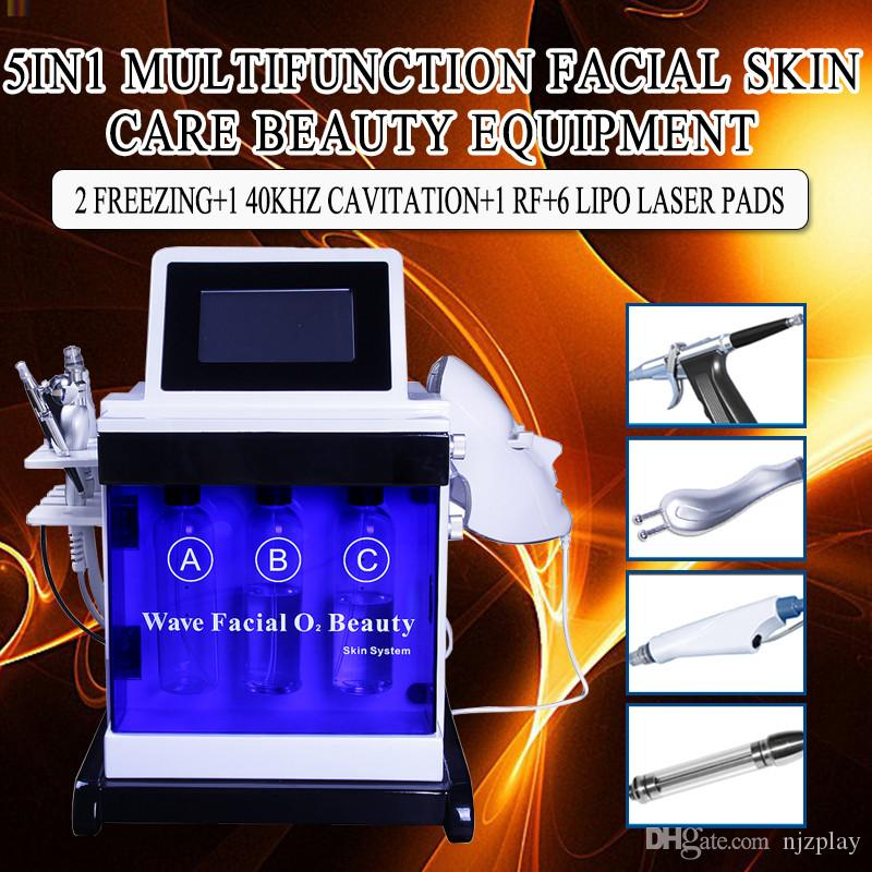 Hydra Dermabrasion Aqua Peel RF Bio-lift Spa Facial Hydro Water Microdermabrasion Facial Machine المطرقة الأكسجين الباردة