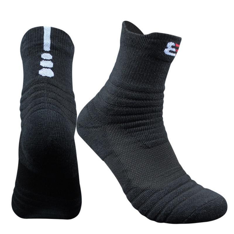 1 Pair Cotton Sports Socks Hiking Running Cycling Towel Bottom Warm Sports Socks Footwear Dropshipping