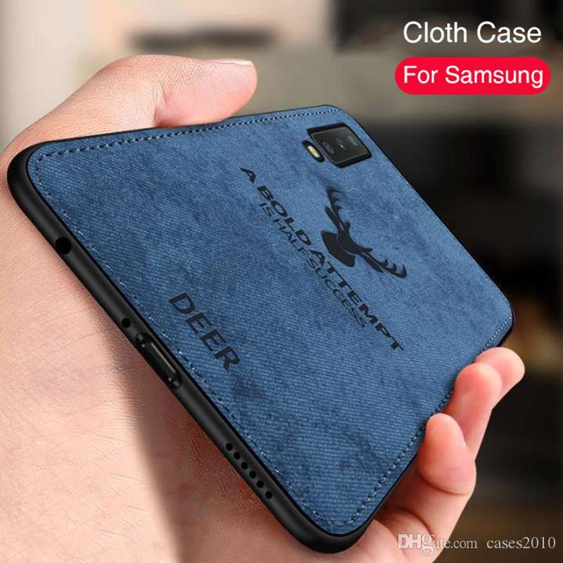 Deer pattern Samsung A30 A50 M30 M20 A9 A7 cloth cover Galaxy S10E S10 S9 S8 A6 A8 Plus J4 J6 leather case