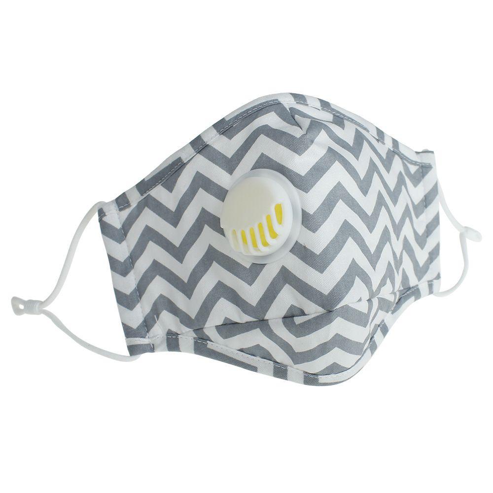 Válvula respiratoria Mascarillas Máscara ajustables para adultos lavable reutilizable cara cubierta de boca de mufla sin filtro 300pcs del cojín CCA12284