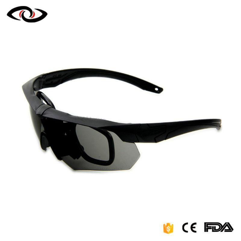 Las gafas de sol del ejército con la lente 4 Hombres disparando Gafas Gafas de sol de conducción deportiva para la pesca Golf Ciclismo ojo que lleva