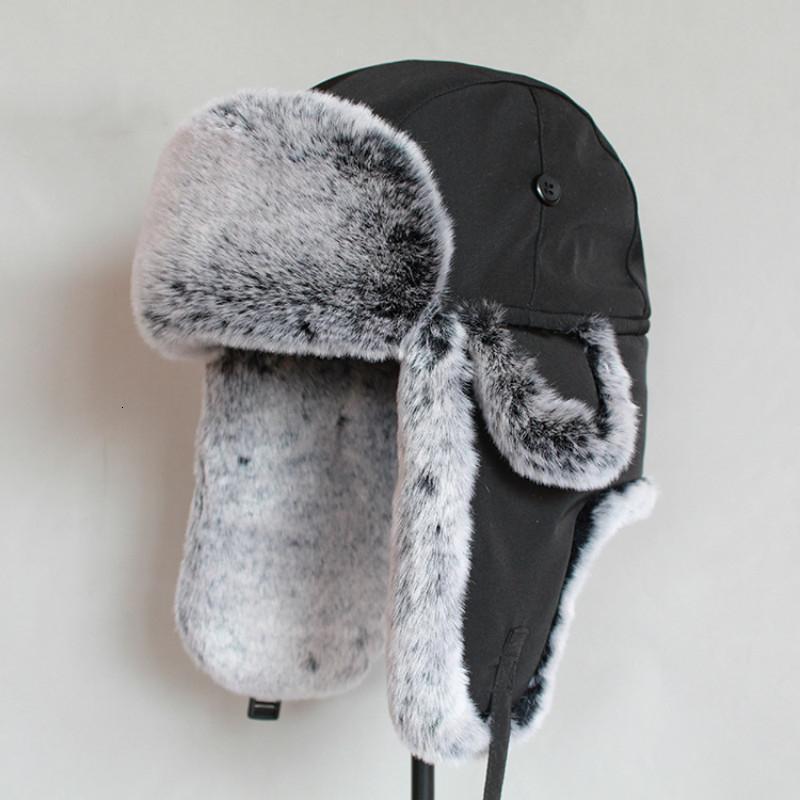 Winter Bomber Hut für Männer Faux Pelz russischen Hut ushanka starke warme Mütze mit Ohrenklappen T191022