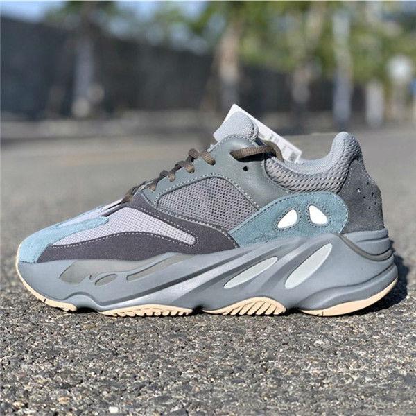 2020 Оптовая Продажа 700 V2 Wave Runner Teal Blue Vanta Инерция Kanye West Кроссовки Мужчины Женщины Спортивная Обувь
