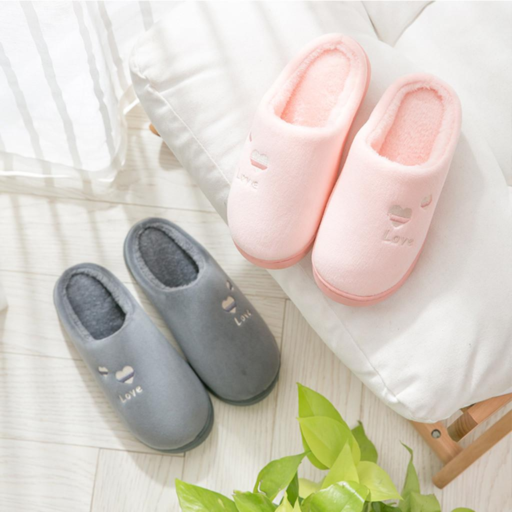 Comfortable Anti-Slip Men Women Lovers Indoor Slippers Shoes Winter Keep Warm GA