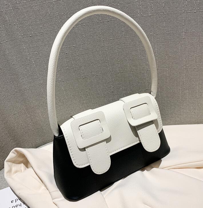 New Style Cambridge Stadtstreicherin Kontrast Farbe Unter dem Arm Baguette-Tasche Weibliche Mode-Handtasche Schultertasche