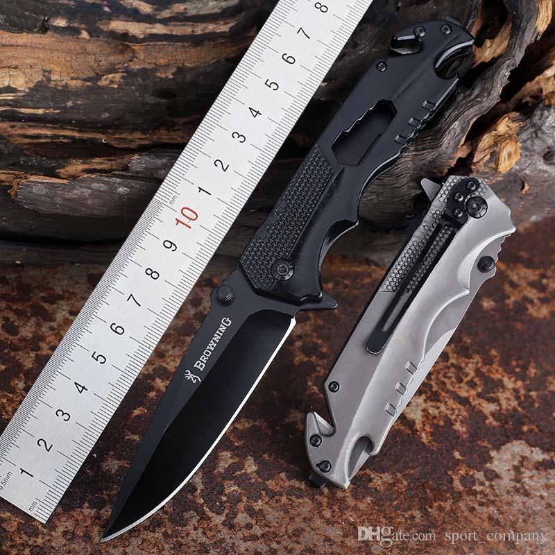 Browning Q9 Klappmesser mit Outdoor-Tool Camping Überleben hohe Härte Taschenmesser Multifunktions-Taschenmesser