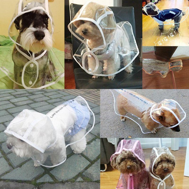 브랜드 개 비옷 투명 작은 개 비가 코트 방수 강아지 비옷 레인웨어 여름 애완 동물 옷 개 공급 3 디자인 LQPYW1003