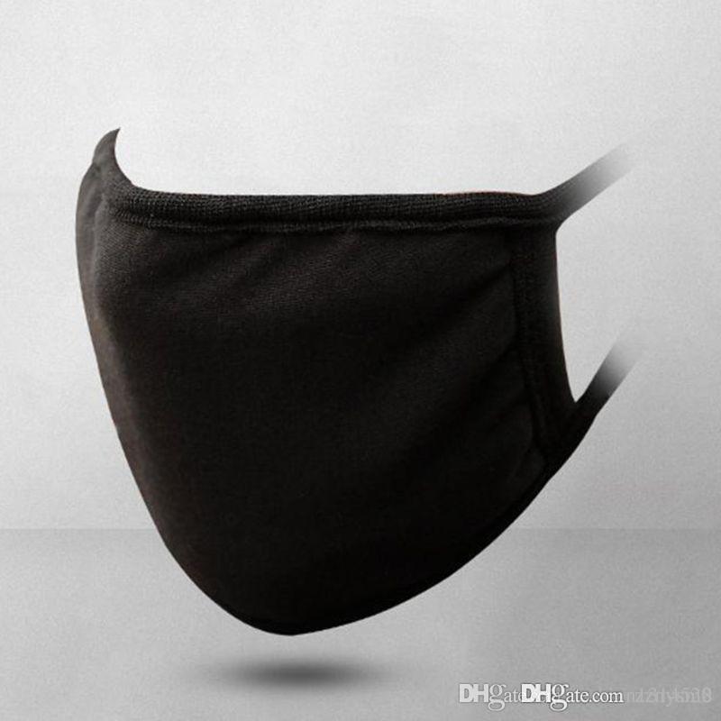 유니섹스 블랙 마우스 마스크 워셔블 코튼 안티 먼지 보호 재사용 가능