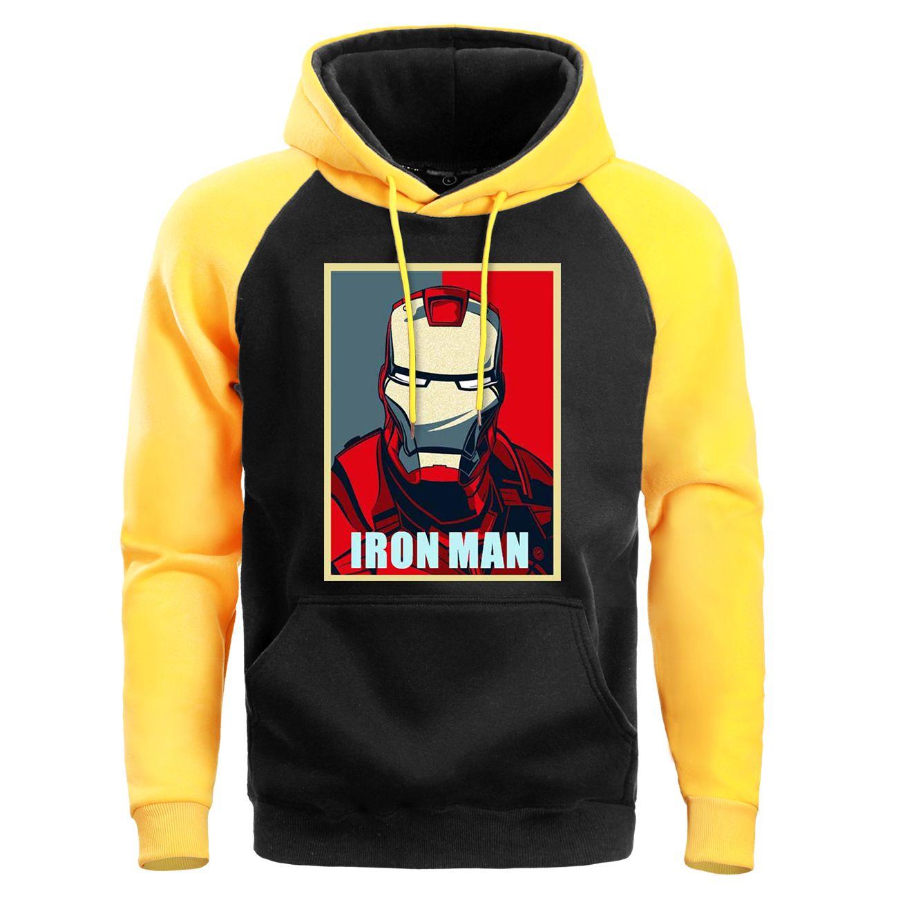 Marvel Iron Man Harajuku Sudaderas Superhéroe 2019 Hip Hop otoño invierno sudaderas Streetwear Moda para hombre con capucha Ropa