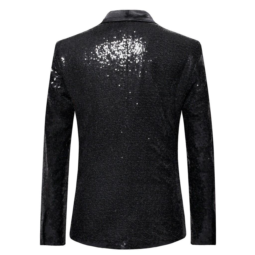 Cantores paletó Stage homens brilhante do ouro Lantejoula Glitter embelezado Blazer Jacket homens Nightclub Wedding Party Blazer Roupa # Y