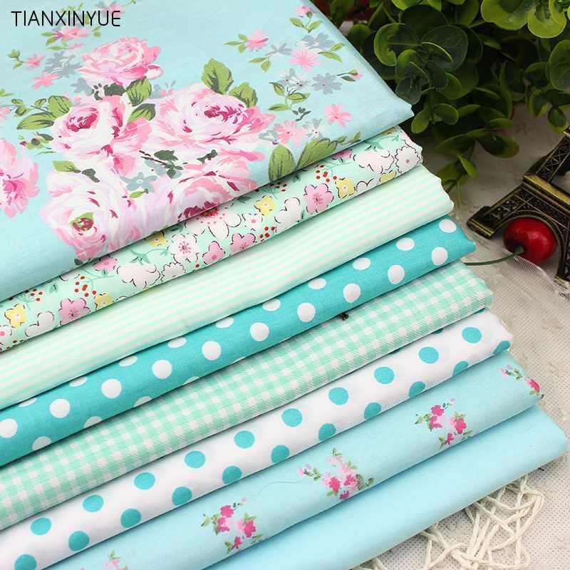 8 PCS 40cmx50cm набор цветы ситец ткани для квилтинга лоскутного tecido ТЕЛА одежды постельных принадлежности Tissus
