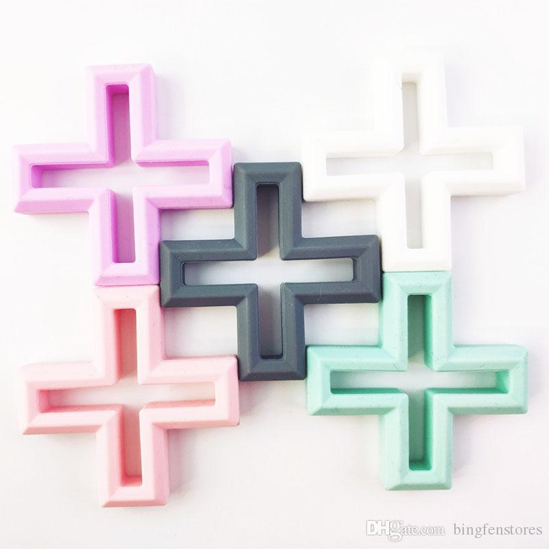 Infant Cross Teethers silicone alimentare Toddler Soothers baby molar training 5 colori