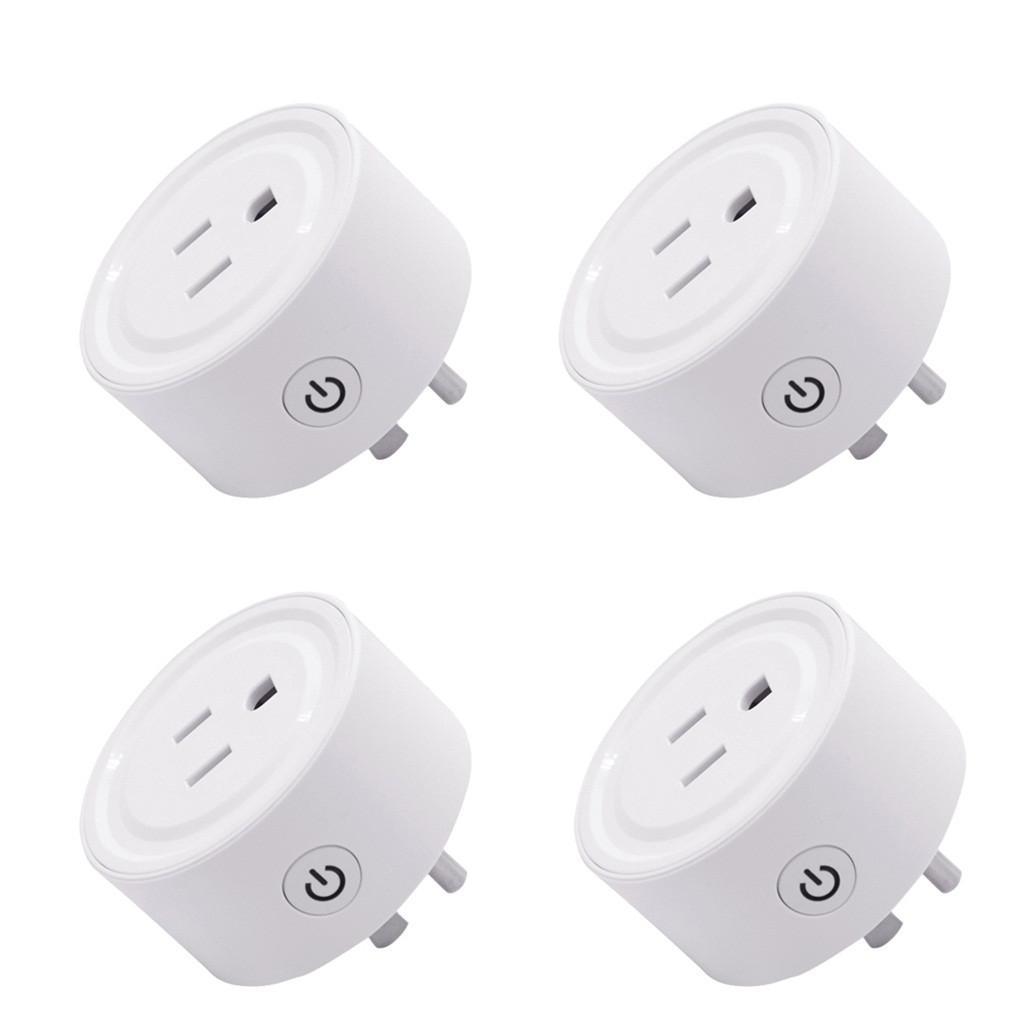 50pcs Smart Plug intelligent WiFi Prise d'alimentation US Plug Commutateur pour Google Accueil Control App pour Alexa Reliés WiFi Plug-Voice Control