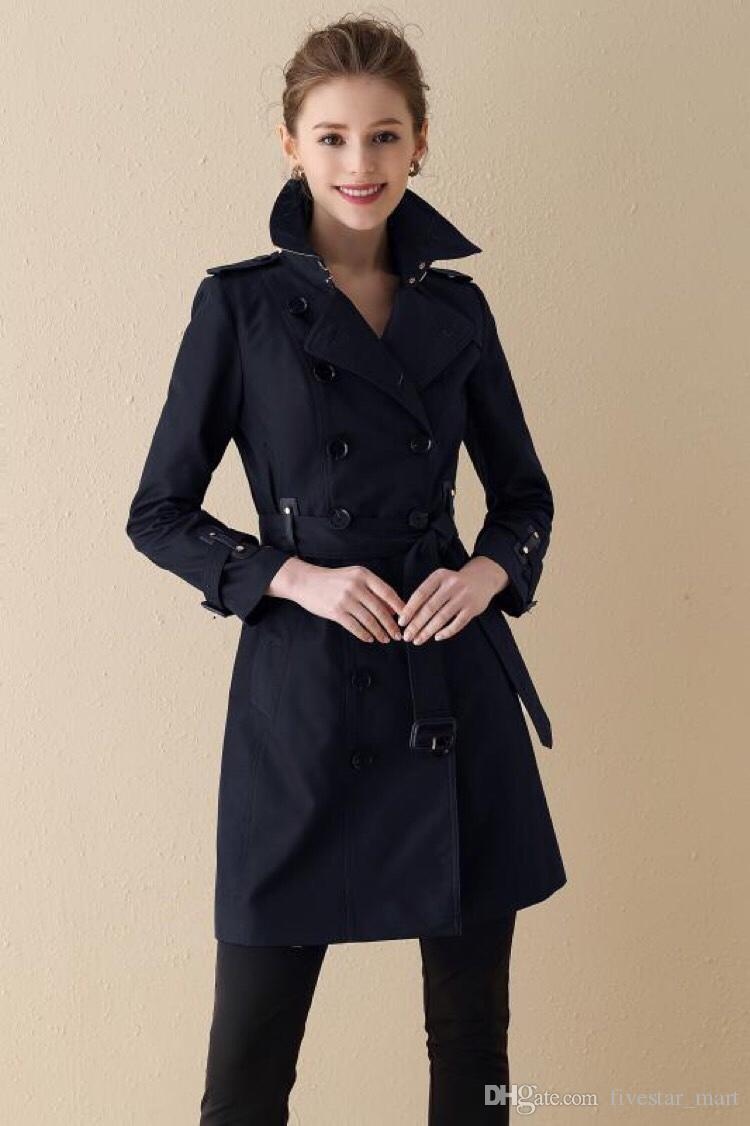 Fashion Women Lapel Long Trench Coat Jacket Overcoat Jacket Slim Fit Outwear