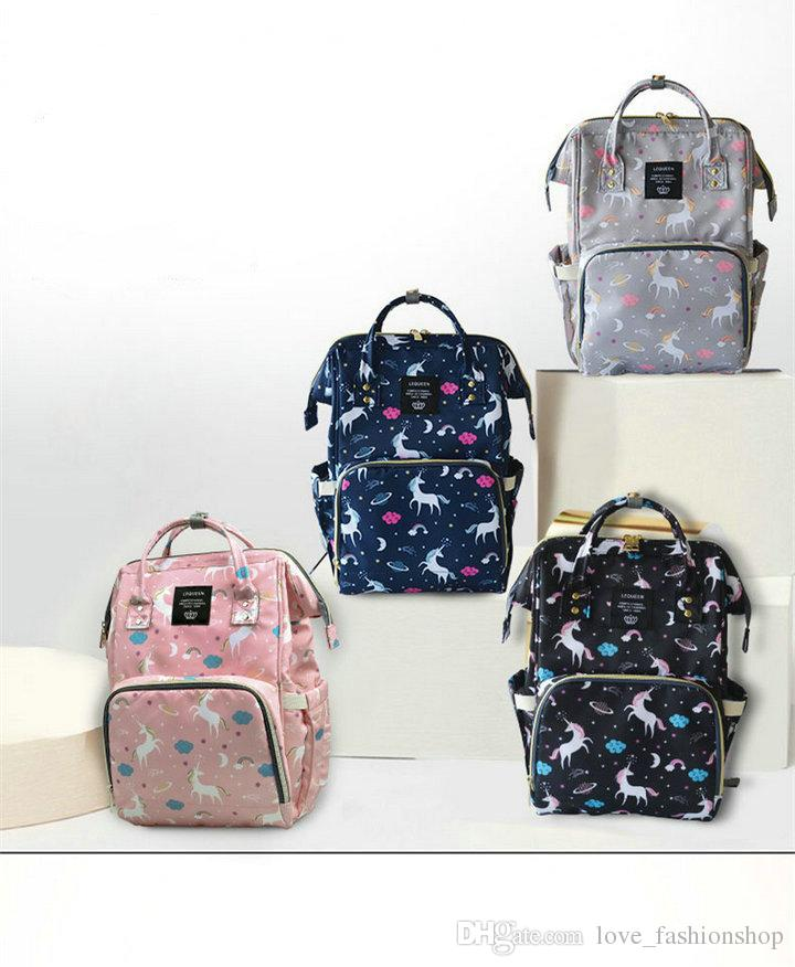 Fashion Cartoon unicorn mommy backpacks multifunction large capacity mother handbags Maternity Backpacks Nappy Stackers Nursing diaper bags