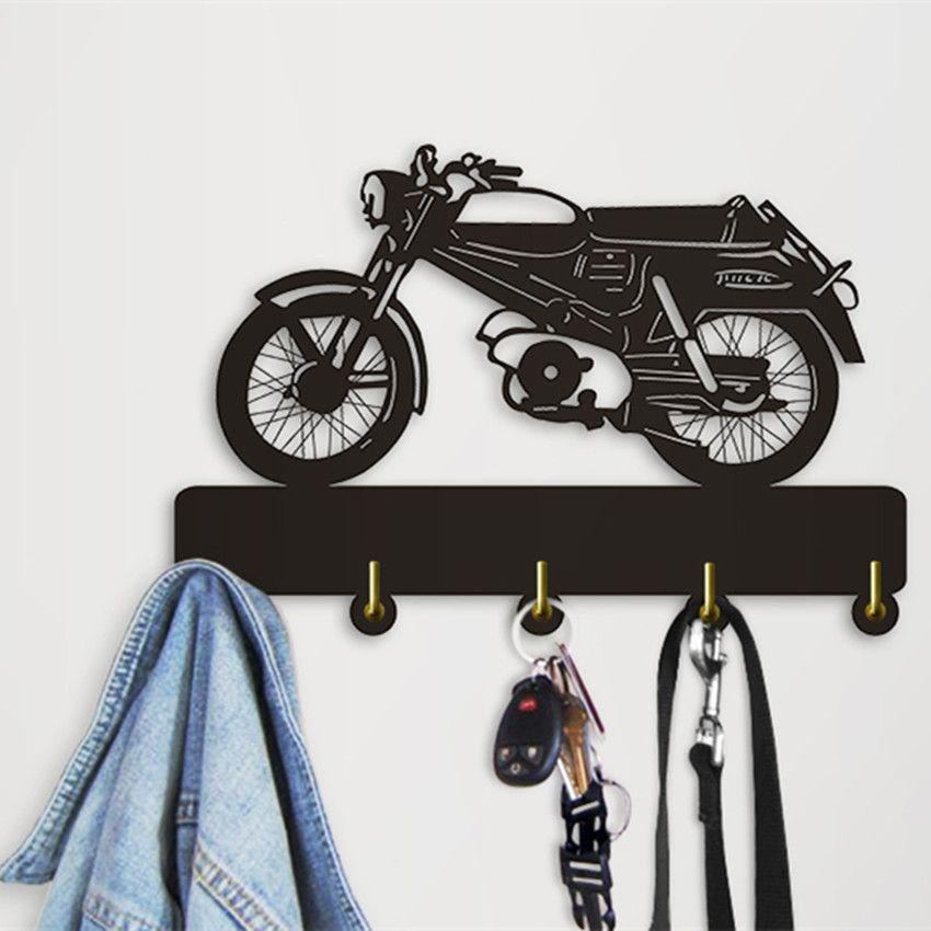 Tandem Bicycle Metal Wall Hook   Keys Hooks Home wall decor