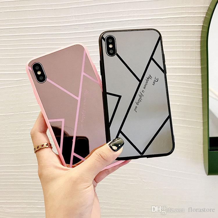 Mirror TPU Mobile Case Mobile Luxury Electroplating Specchio Telefono Caso di protezione antiurto Protector Shell per iPhone Apple 7 8plus xr x max 11 Pro