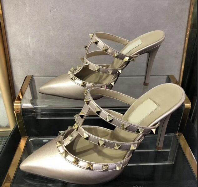 La venta caliente-veterinarios con clavos Recorte zapatos atractivos zapatillas sandalias de tacón alto del banquete de boda