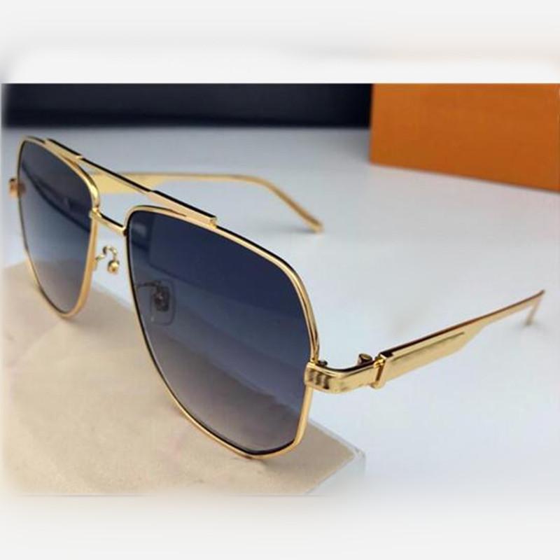 جديد مصمم أزياء الفاخرة النساء نظارات شمس 1102 طيار الإطار المعدني بسيطة النمط الشعبي أعلى جودة عدسة UV400 النظارات الرجال