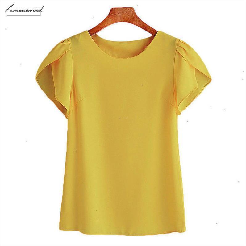 Sıcak Yeni Satış Bayan Gevşek Katı Mahsul Yelek Bayanlar Tatil Yaz Temel Femme şifon Bluz Artı Boyutu Tops