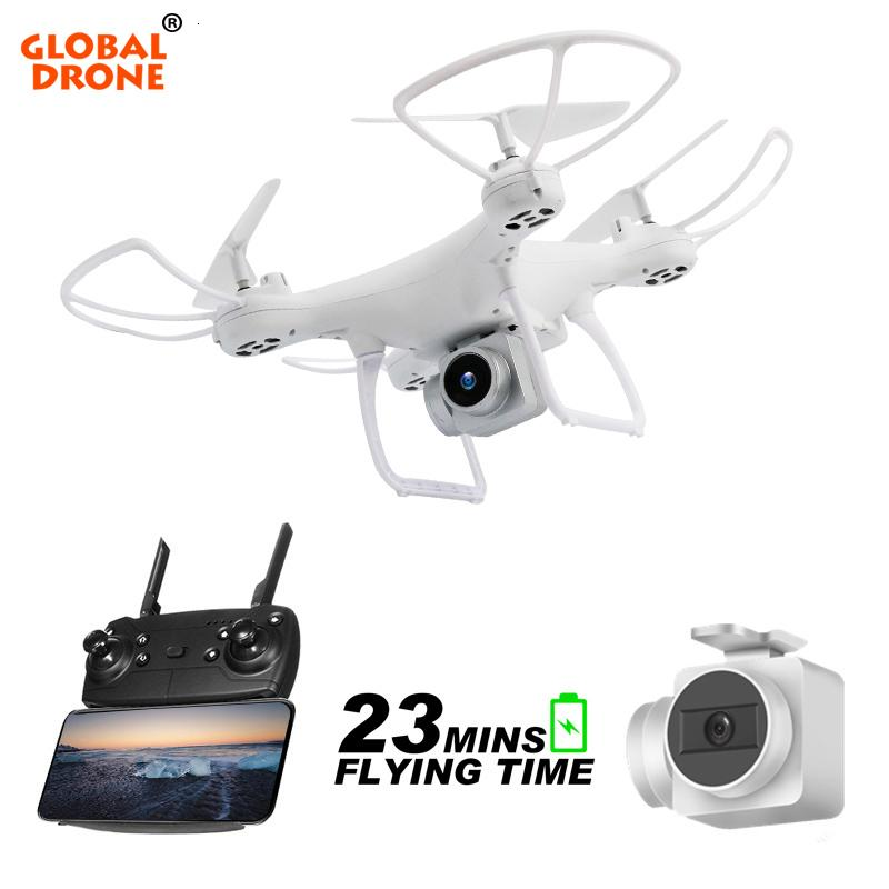 Global Drone Long Time Fly Dron With Camera Headless Mode Remote Control Quadcopter Wifi Fpv High Hold Quadrocopter Vs Syma X5c T190621