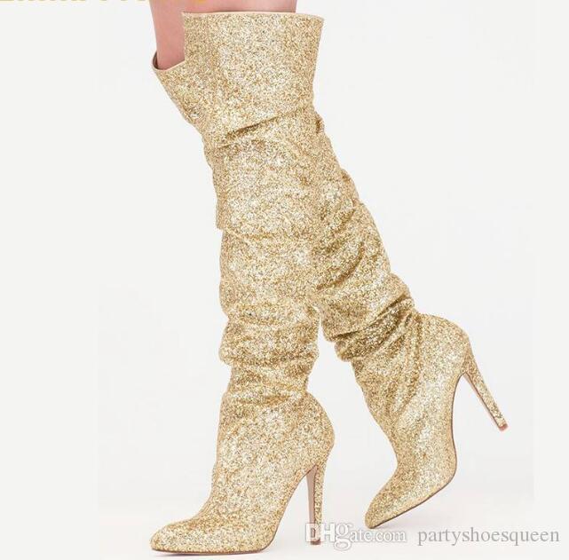 Fashion Gold Glitter Women Sparkly