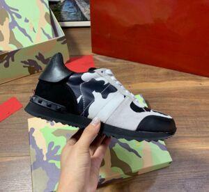 Mode Hommes Cuir véritable Chaussures Designer de luxe Blanc espadrille ouvert en cuir avec des formateurs Blanc Noir Chaussures Baskets 38-45 ccx06