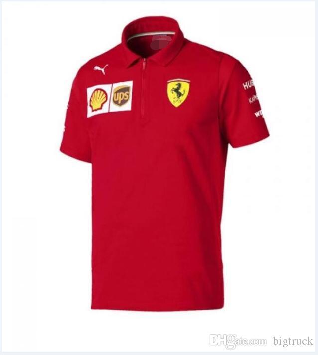 مخصص الفورمولا 1 الفورمولا واحد التجفيف السريع قصيرة الأكمام قميص بولو ركوب الدراجات رياضة سباقات عارضة سريعة التجفيف الأعلى