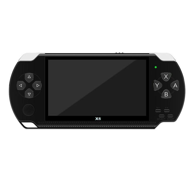 X6 4.3 polegadas Handheld Game Console do jogador 10000 Jogos 32Bit Suporte 8GB para PSP Game / Video / E-Book