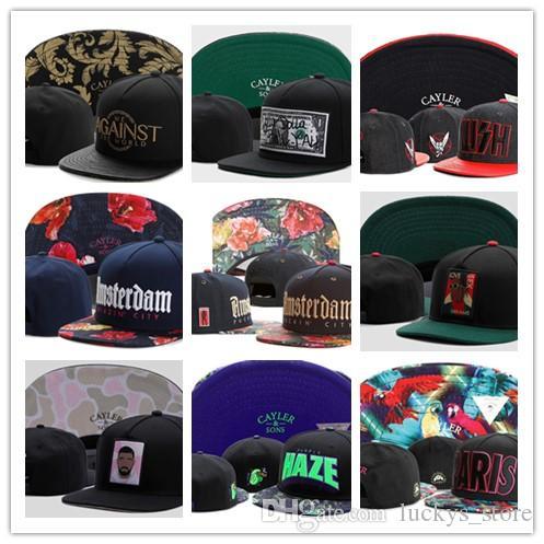 Nuovi cappelli di Snapbacks Moda Street Copricapo hip hop regolabile Cayler Sons caps calcio personalizzato di alta qualità berretto da baseball goccia di spedizione