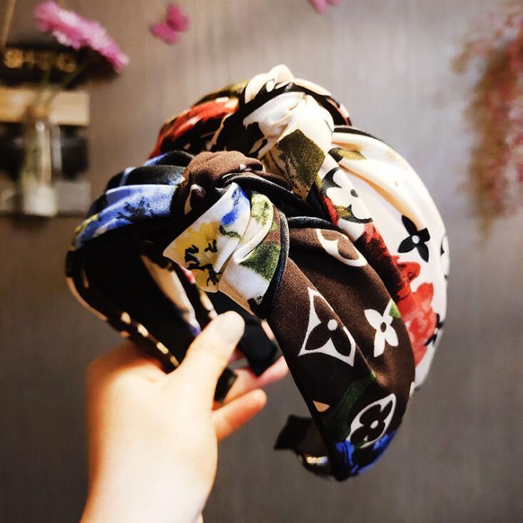 Jóias Designer cabelo estilo clássico de Hoop Mulheres Printing Headband Moda Cabelo Acessórios de cabelo retro presente headwraps Turban