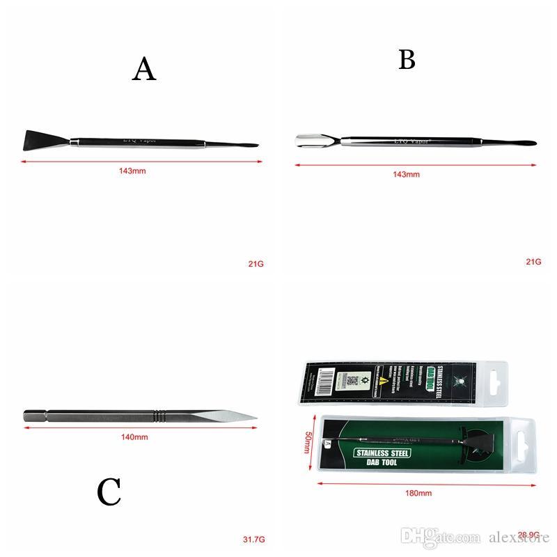 Oryginalny LTQ Dab Narzędzie DAB Ze Stali Nierdzewnej 3 Rodzaje Dabber Narzędzia 140mm Metalowy Paznokci tytanu Do Wax Vaporizer Suche Zioła Atomizer Vape Pen DHL