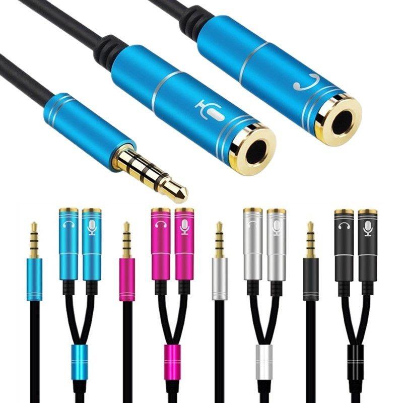 3,5-mm-Stereo-Kopfhörer-Headse 2-Wege-Splitter-Adapter-Anschlüsse für Samsung MP3-PC-Kopfhörer-Laptop