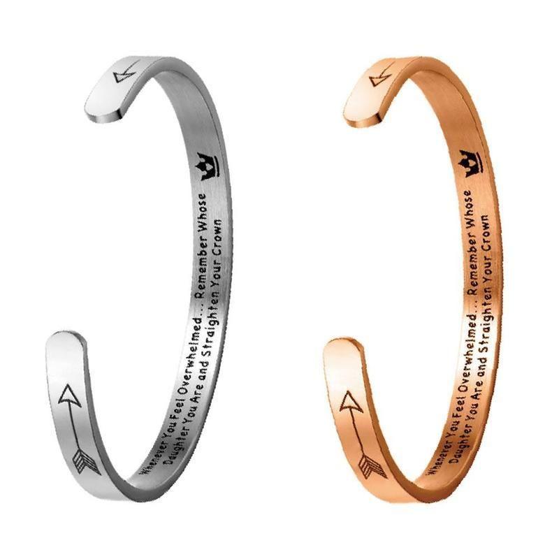 Paare öffnen Armbänder Brief Crown Armband Männer Frauen Roségold Titan Stahl Viking Adjustment Armband-Schmucksachen C-förmigen