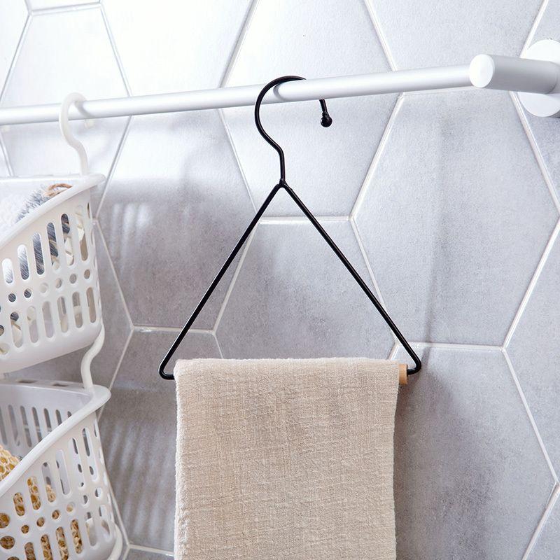 Kitchen Towel Rack Paper Roll Holder Scarves Triangle Dish Cloth Stand Shelf Bathroom Toilet Storage Hook Wood Organizer