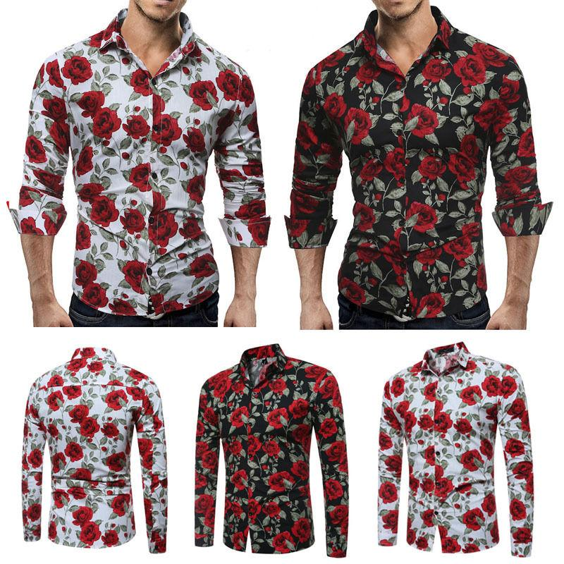 Vogue Newest Vogues Fashion New Mens Slim Fit Long Sleeve Formal Shirt Fashion Men Casual Shirts Tops