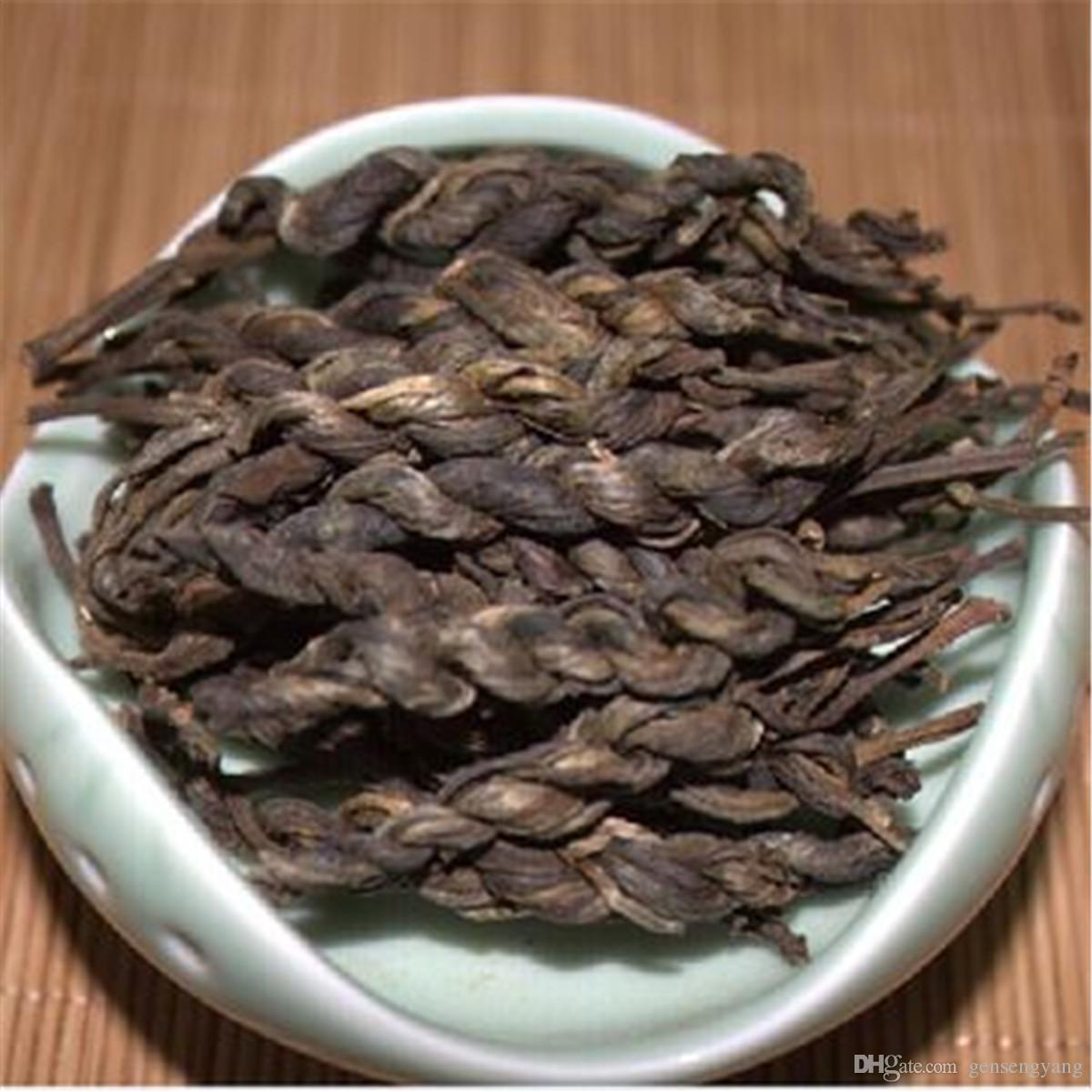 Prima Puer de Yunnan hecho a mano en forma de trenza Puer Orgánica Pu'er El más antiguo árbol verde Puer Natural Puerh Venta directa de fábrica