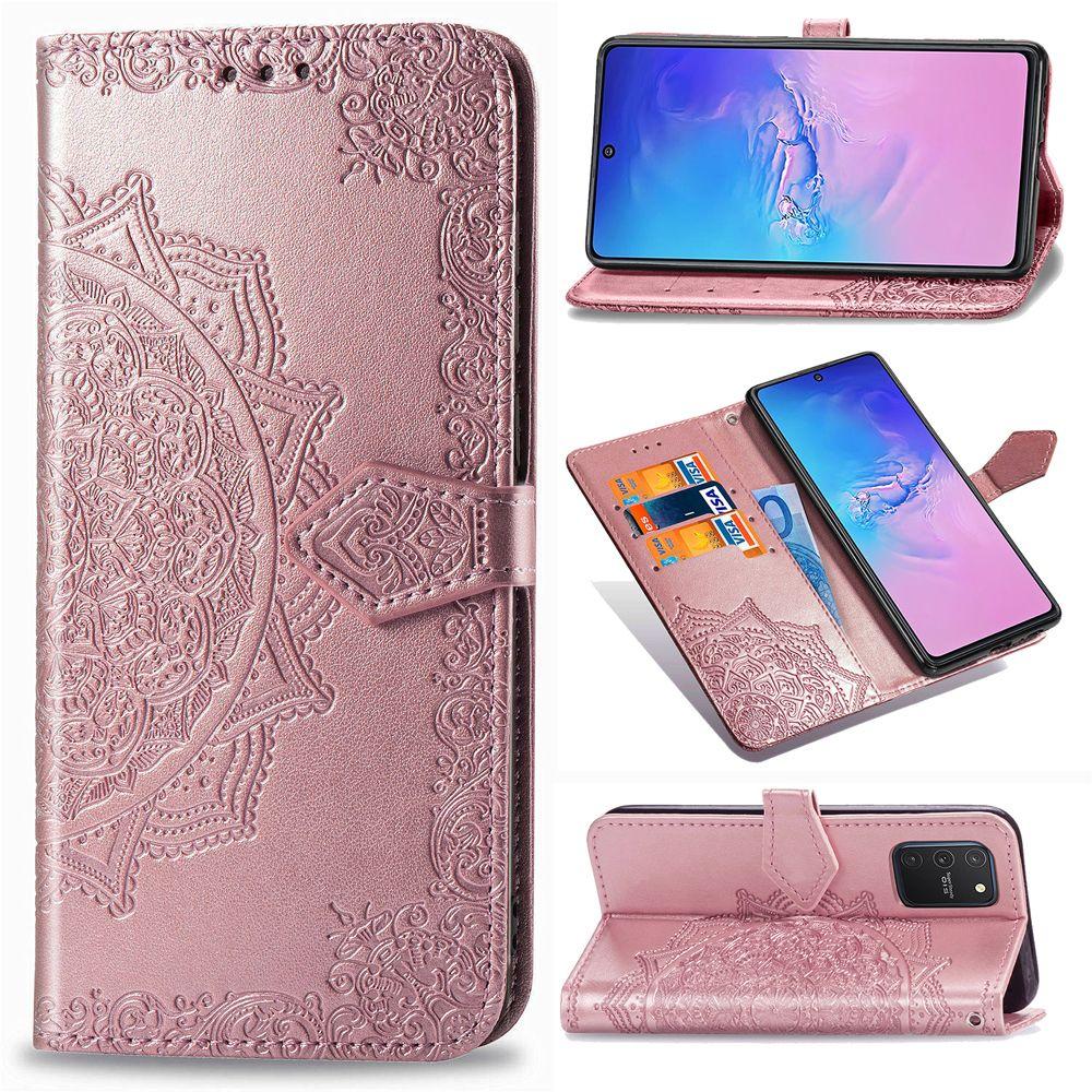 De lujo del tirón del cuero del caso para Samsung Galaxy S10 Lite casos la flor de mariposa 3D Monedero cubierta para Samsung A91 cubierta del teléfono Coque Funda