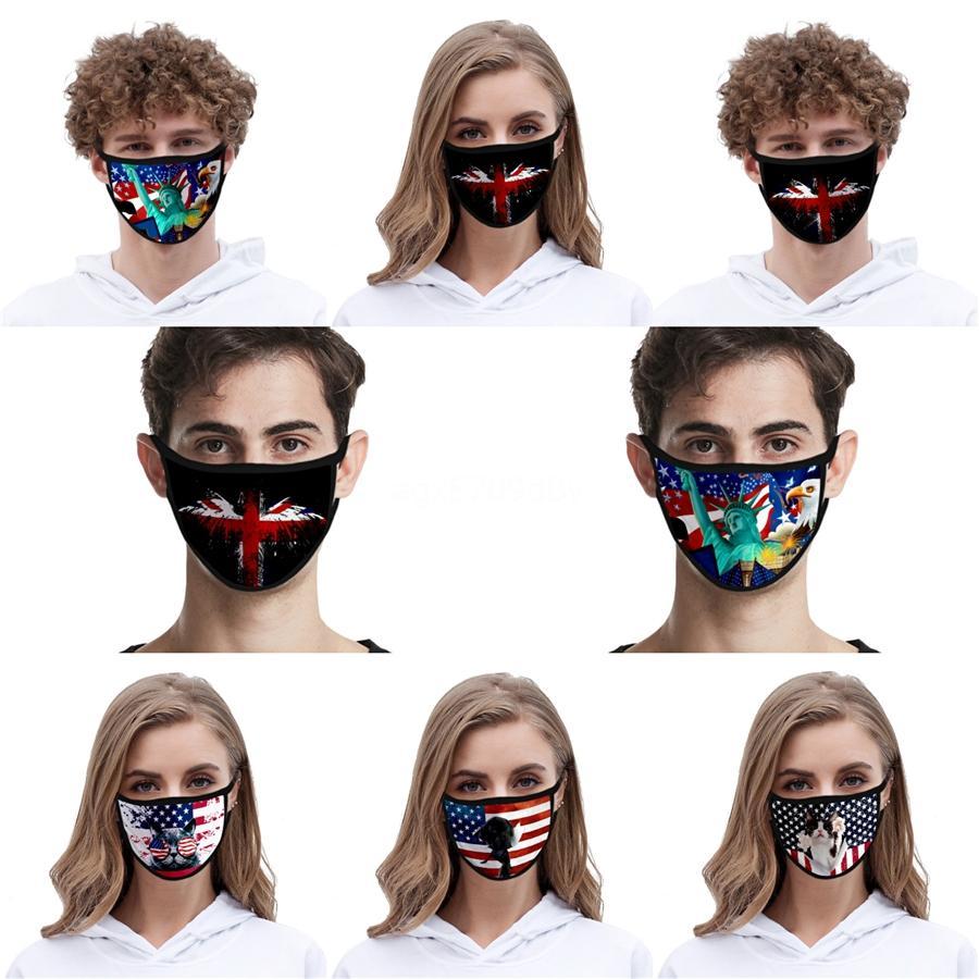 Máscaras de los pares de la mascarilla protectora Negro Diseñador elástico para la máscara Máscaras amantes Negro Blanco boca de algodón de 3 capas Moda Luxur # QA295