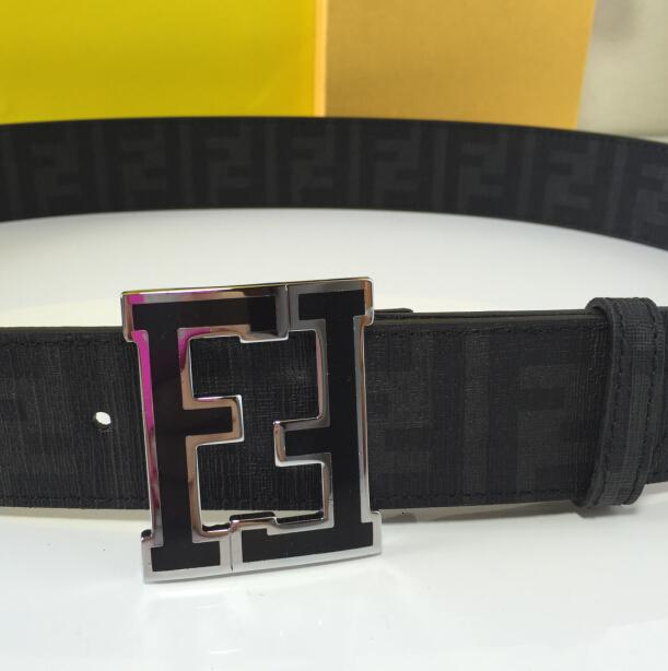 F BELT Real leather includes the serial number Black BELT ADJUSTABLE WITH BOX