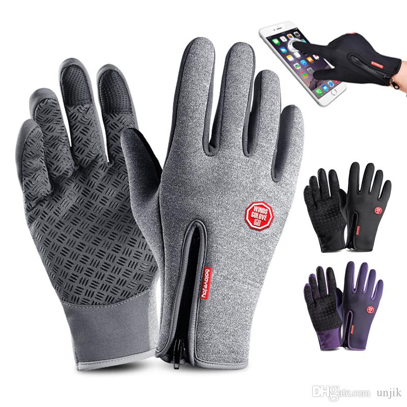 Outdoor Sports Wandern Winter Fahrrad Fahrrad Radfahren Handschuhe Magie Touchscreen Handschuhe für Männer Frauen Anti-Rutsch-Winddicht Outdoor Sports MTB Road