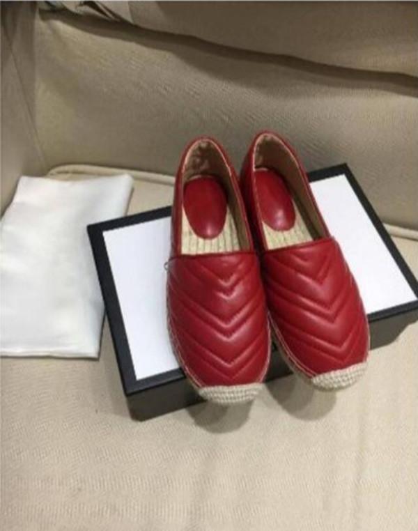 2020 clássico Verão Sandals Mulheres Low-Top Alpercatas Fisherman sapatos de grife de luxo Loafers sola de borracha deslizamento-em sapatas 35-40