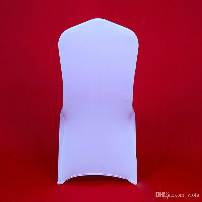 Surprising Universal White Wedding Spandex Chair Covers Hotel Polyester Chair Cover Lycra Stretch Christmas Party Chair Cover Dining Table Seat Covers Tablecloth Alphanode Cool Chair Designs And Ideas Alphanodeonline